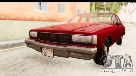 Chevrolet Caprice 1987 para la visión correcta GTA San Andreas