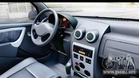 Dacia Logan Editie para visión interna GTA San Andreas