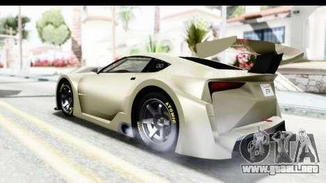 GTA 5 Emperor ETR1 IVF para GTA San Andreas vista posterior izquierda