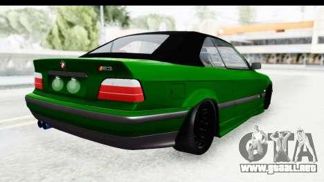 BMW M3 E36 Sloboz Edition para GTA San Andreas left