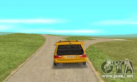 BMW X5 para GTA San Andreas vista hacia atrás