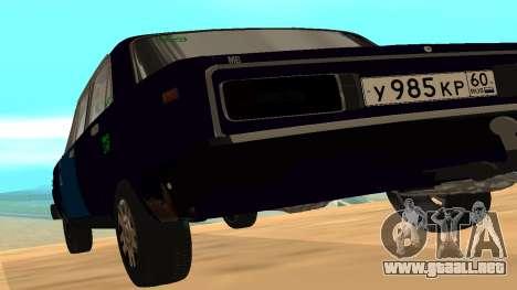 VAZ-2106 a GVR primera versión para GTA San Andreas vista posterior izquierda