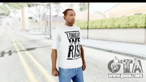 Skillet T-Shirt para GTA San Andreas segunda pantalla
