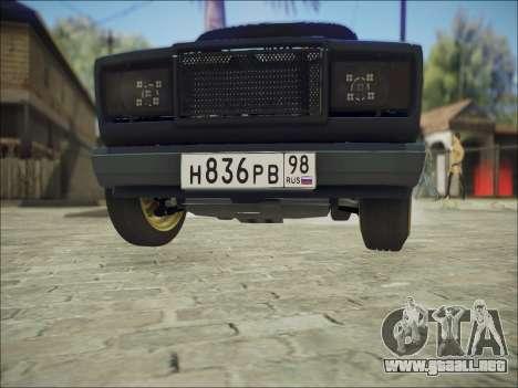 VAZ 2107 Black Jack para visión interna GTA San Andreas