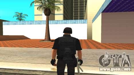 Original SWAT de la piel sin máscara para GTA San Andreas tercera pantalla