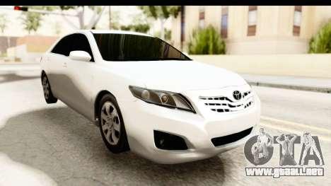 Toyota Camry GL 2011 para la visión correcta GTA San Andreas