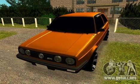 Volkswagen Golf 2 para GTA San Andreas left