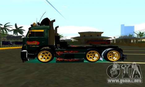 KamAZ 65115 TURBO DIESEL para GTA San Andreas left