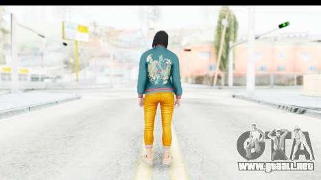 Cunning Stunts DLC Female Skin para GTA San Andreas tercera pantalla