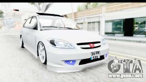 Honda Civic Vtec para la visión correcta GTA San Andreas