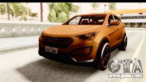 Hyundai Santa Fe 2015 para GTA San Andreas vista posterior izquierda