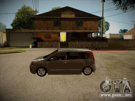 Nissan Note 2008 para visión interna GTA San Andreas