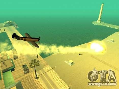 La adición de armas a la técnica de aire para GTA San Andreas sucesivamente de pantalla