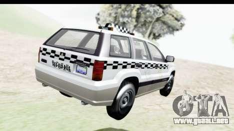 GTA 5 Canis Seminole Taxi Milspec para GTA San Andreas left