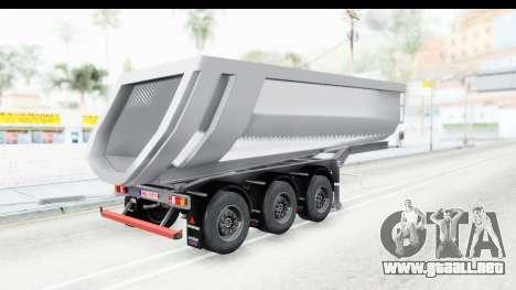 Trailer Volvo Dumper para GTA San Andreas left