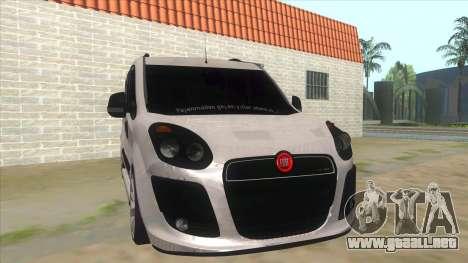 Fiat Doblo 2015 Series para GTA San Andreas vista hacia atrás