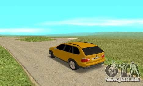 BMW X5 para la visión correcta GTA San Andreas