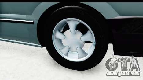 Renault 19 RE para GTA San Andreas vista hacia atrás