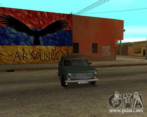 VAZ 2101 Armenia para vista lateral GTA San Andreas
