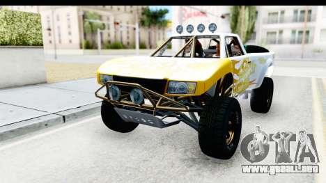 GTA 5 Trophy Truck IVF para vista lateral GTA San Andreas
