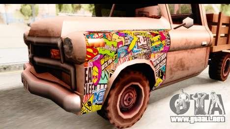 Walton Sticker Bomb para GTA San Andreas vista hacia atrás