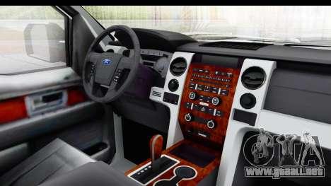 Ford F-150 Police New York para visión interna GTA San Andreas
