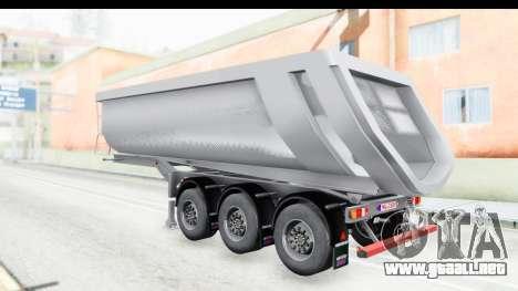 Trailer Volvo Dumper para la visión correcta GTA San Andreas