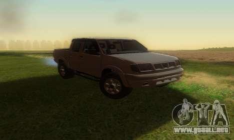 Nissan Frontier para la visión correcta GTA San Andreas