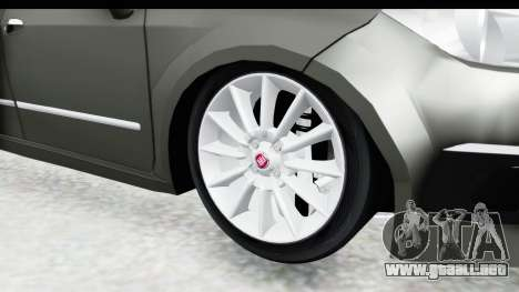 Fiat Linea 2015 v2 Wheels para GTA San Andreas vista hacia atrás