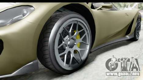 GTA 5 Pfister 811 IVF para GTA San Andreas vista hacia atrás