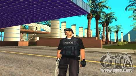 Original SWAT de la piel sin máscara para GTA San Andreas