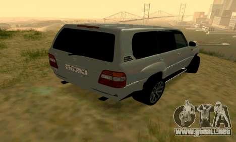 Toyota Land Cruiser 100 para la visión correcta GTA San Andreas