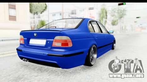 BMW 525i E39 M Tech para GTA San Andreas left