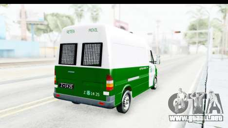 Mercedes-Benz Sprinter Carabineros de Chile para GTA San Andreas left