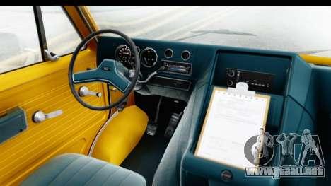 GMC Vandura 1985 HQLM para visión interna GTA San Andreas