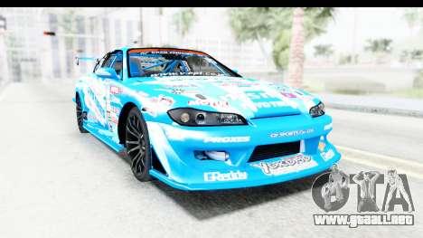 Nissan Silvia S15 D1GP Blue Toyo Tires para la visión correcta GTA San Andreas
