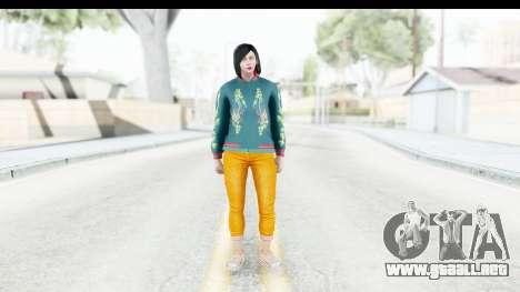 Cunning Stunts DLC Female Skin para GTA San Andreas segunda pantalla