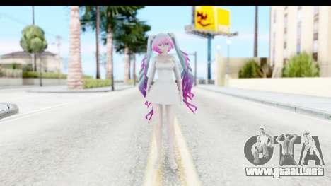 White Dress Miku para GTA San Andreas segunda pantalla