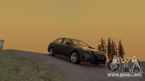 Subaru Legacy 2010 para GTA San Andreas vista posterior izquierda