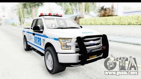 Ford F-150 Police New York para la visión correcta GTA San Andreas