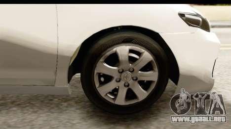 Toyota Camry GL 2011 para GTA San Andreas vista hacia atrás