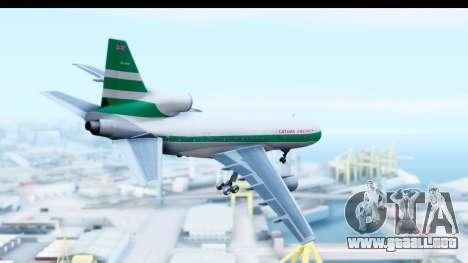 Lockheed L-1011-100 TriStar Cathay Pacific Air para la visión correcta GTA San Andreas