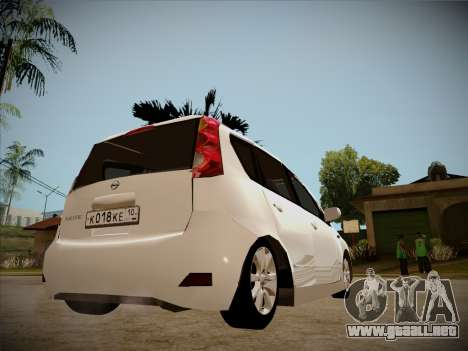 Nissan Note 2008 para la vista superior GTA San Andreas