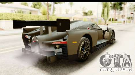 Scuderia Glickenhaus SCG 003C para GTA San Andreas vista posterior izquierda