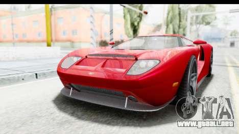 GTA 5 Vapid Bullet Face FMJ para GTA San Andreas vista posterior izquierda