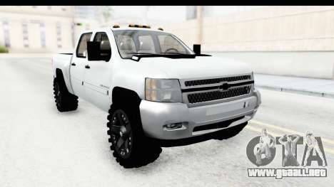 Chevrolet Silverado Duramax 2012 para la visión correcta GTA San Andreas