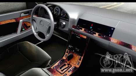 Mercedes-Benz W140 S600 AMG para visión interna GTA San Andreas