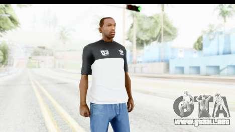 Adidas Black White T-Shirt para GTA San Andreas segunda pantalla