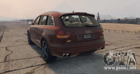 GTA 5 Audi Q7 AS7 ABT 2009 vista lateral izquierda