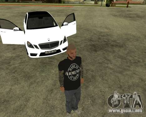 Mercedes-Benz E250 Armenian para vista inferior GTA San Andreas